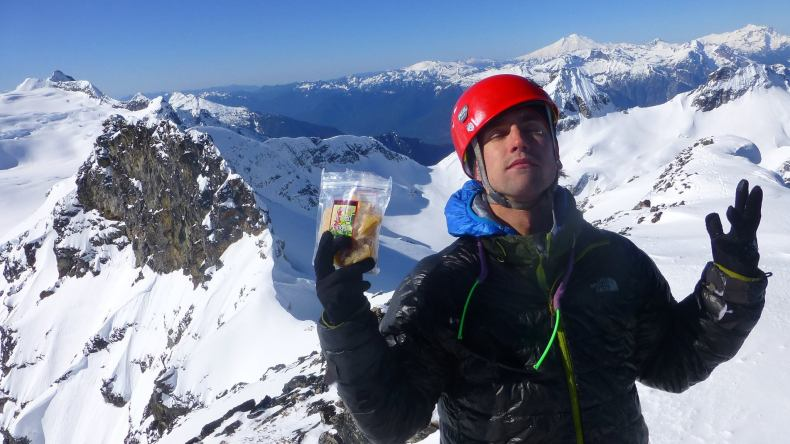 Michal on the summit of Colonial Peak, enjoying interests #1 and #3. Photo by Ryan Hoover